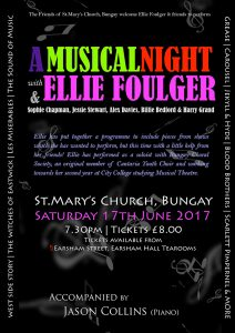 A Musical Night with Ellie Foulger.